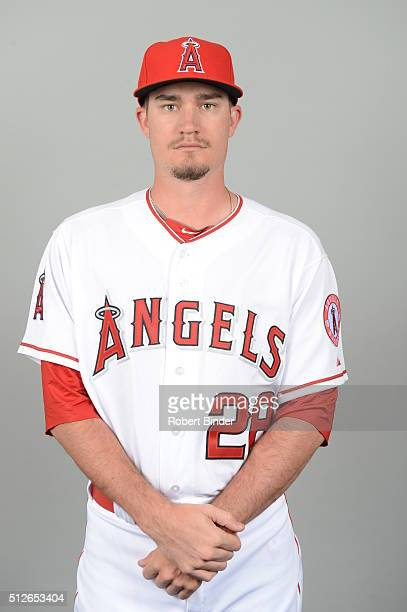 Andrew Heaney of the Los Angeles Angels poses during Photo Day on Friday February 26 2016 at Tempe Diablo Stadium in Tempe Arizona