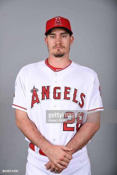 Andrew Heaney of the Los Angeles Angels poses during Photo Day on Tuesday February 21 2017 at Tempe Diablo Stadium in Tempe Arizona