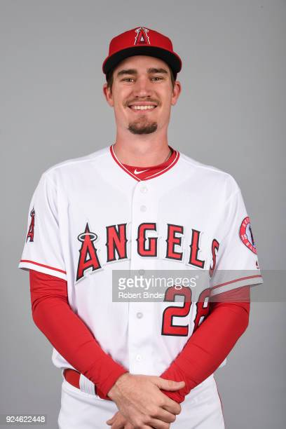 Andrew Heaney of the Los Angeles Angels poses during Photo Day on Thursday February 22 2018 at Tempe Diablo Stadium in Tempe Arizona