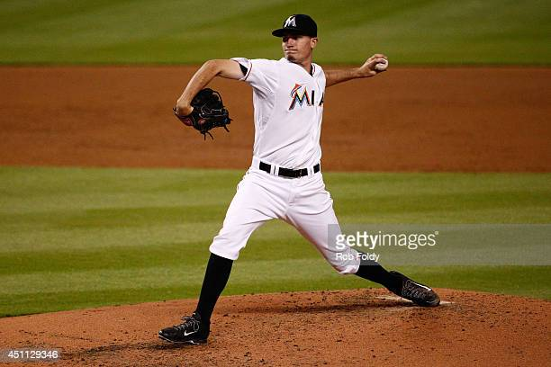 Andrew Heaney of the Miami Marlins pitches during the game against the New York Mets at Marlins Park on June 19 2014 in Miami Florida