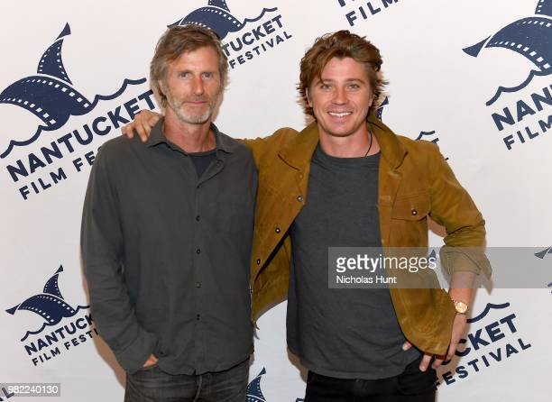Andrew Heckler and Garrett Hedlund attend the screening of 'Burden' at the 2018 Nantucket Film Festival Day 4 on June 23 2018 in Nantucket...