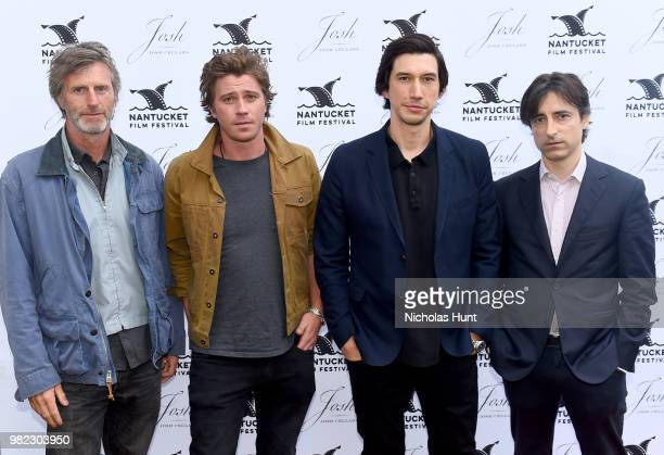 Andrew Heckler Garrett Hedlund Adam Driver and Noah Baumbach attend the Screenwriters Tribute at the 2018 Nantucket Film Festival Day 4 on June 23...
