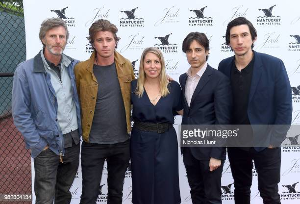 Andrew Heckler Garrett Hedlund Mystelle Brabbee Noah Baumbach and Adam Driver attend the Screenwriters Tribute at the 2018 Nantucket Film Festival...