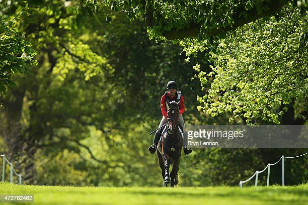 Andrew Heffeman of The Netherlands rides Boleybawn Ace during the CrossCountry Test at the Badminton Horse Trials 2015 on May 9 2015 in Badminton...