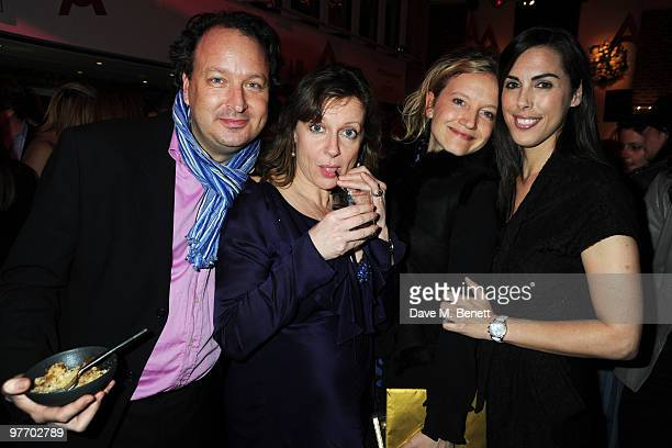 Andrew Higgie Alexandra Johnson Lara Cazalet and Jessica de Rothschild attend the Almeida 2010 Fundraising Gala at the Almeida Theatre on March 14...