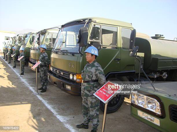Andrew Higgins/STAFF/TWP CHANGPING, , CHINA Chinese soldiers at display of military equipment used on U.N. Peacekeeping missions Sent by: Andrew...