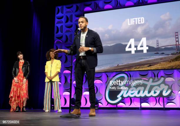 Andrew Hill pitches at the WeWork San Francisco Creator Awards at Palace of Fine Arts on May 10 2018 in San Francisco California