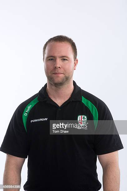 Andrew Hogan of London Irish poses for a picture during the BT PhotoShoot at Sunbury Training Ground on August 27 2014 in Sunbury England