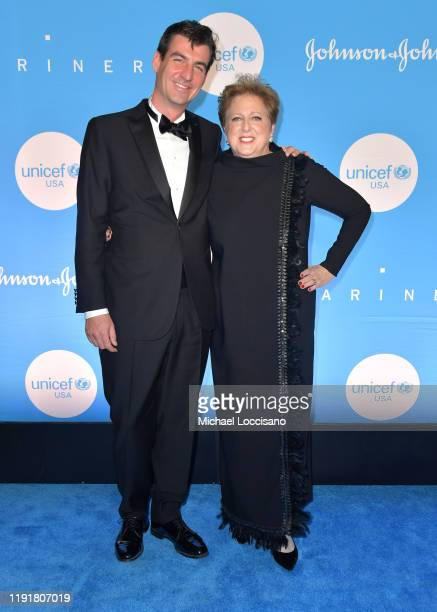 Andrew Hohns and Caryl M Stern at the 15th Annual UNICEF Snowflake Ball 2019 at 60 Wall Street Atrium on December 03 2019 in New York City