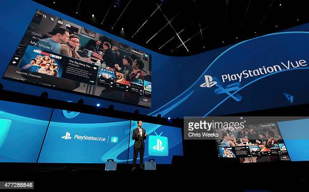 Andrew House, President and Global CEO of Sony Computer Entertainment Inc., announces the launch of PlayStation Vue in the Greater Los Angeles and...