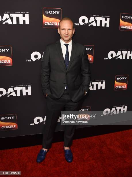 Andrew Howard arrives at Sony Crackle's 'The Oath' Season 2 exclusive screening event at Paloma on February 20 2019 in Los Angeles California