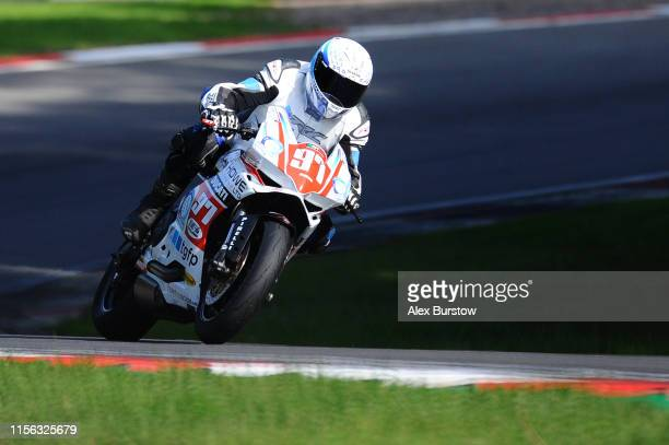 Andrew Howe of Great Britain in action during the Ducati TriOptions Cup race at Brands Hatch on June 16, 2019 in Longfield, England.
