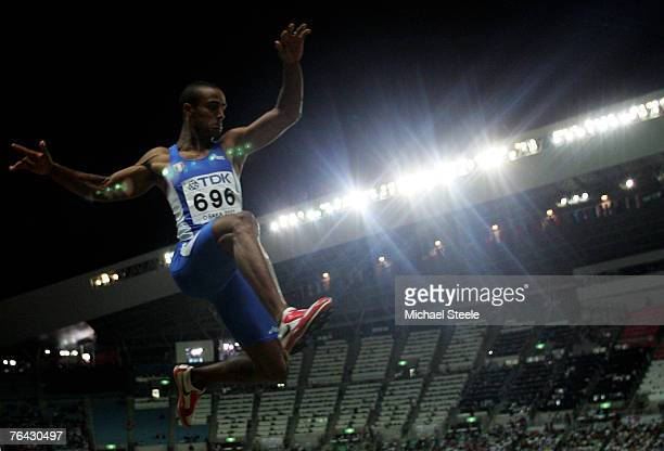 Andrew Howe of Italy competes during the Men's Long Jump Final on day six of the 11th IAAF World Athletics Championships on August 30, 2007 at the...