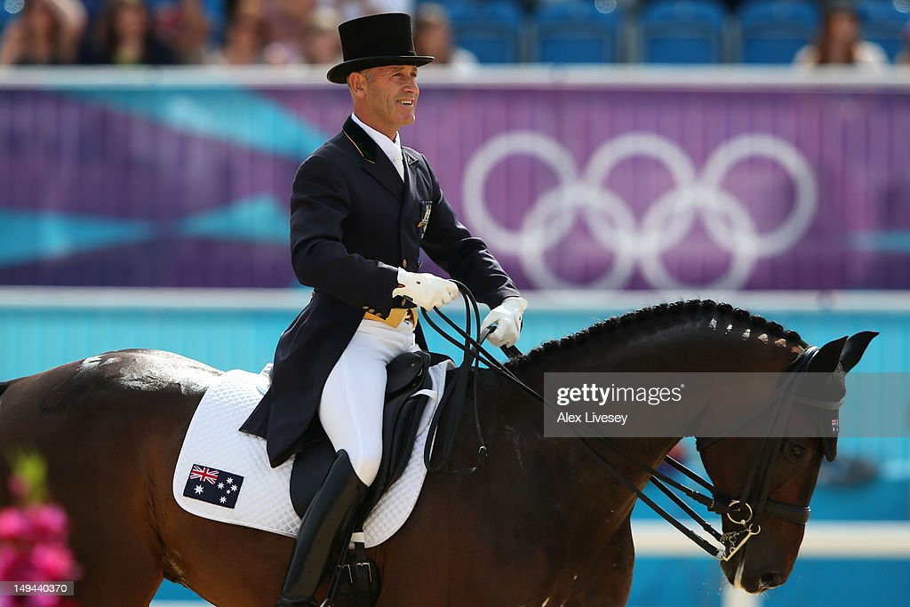 Andrew Hoy of Australia riding Rutherglen competes in the Dressage Equestrian event on Day 1 of the London 2012 Olympic Games at Greenwich Park on July 28, 2012 in London, England.