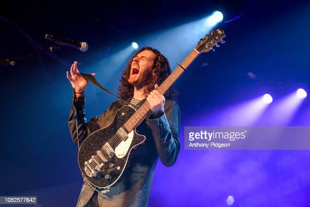 Andrew HozierByrne of Hozier performs on stage during the first night of his soldout 2 night stand at Roseland Theater on October 19 2018 in Portland...