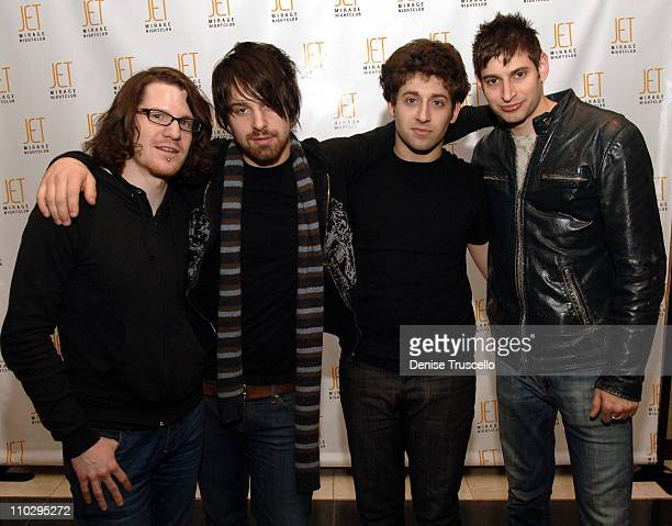 Andrew Hurley Jon Walker Joe Trohman and Eric during Fall Out Boy and Panic At the Disco Party at JET Nightclub at the Mirage Hotel and Casino Resort...