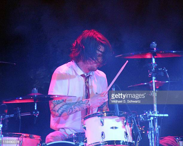 Andrew Hurley of Fall Out Boy during Nintendo Fusion Tour October 27 2005 at The Wiltern Theater in Los Angeles California United States