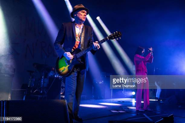 Andrew Innes and Bobby Gillespie of Primal Scream perform at Perth Concert Hall on December 15, 2019 in Perth, Scotland.