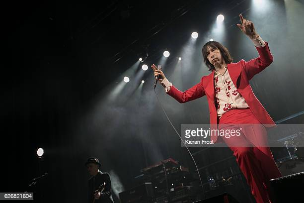 Andrew Innes and Bobby Gillespie of Primal Scream performs at the Olympia Theatre on November 30 2016 in Dublin Ireland