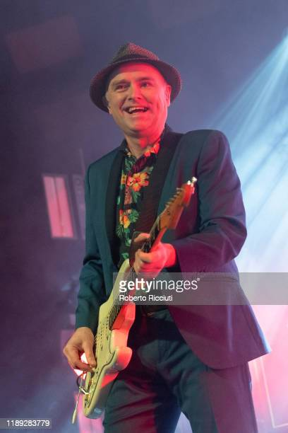 Andrew Innes of Primal Scream performs on stage at Barrowland Ballroom on December 17, 2019 in Glasgow, Scotland.