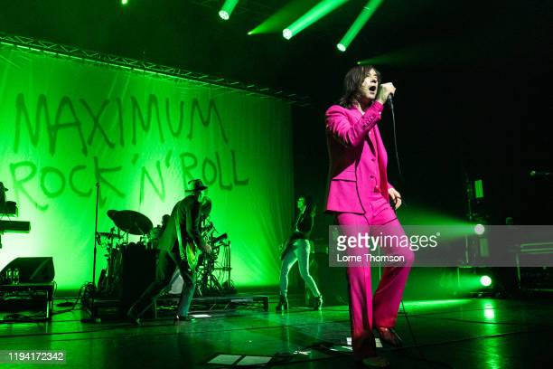 Andrew Innes, Simone Butler and Bobby Gillespie of Primal Scream perform at Perth Concert Hall on December 15, 2019 in Perth, Scotland.