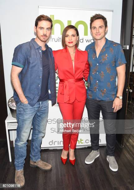 Andrew J West Lana Parrilla and Collin O'Donoghue attend Comic Con TVLine Media Lounge Sponsored By Hint July 22 2017 in San Diego California