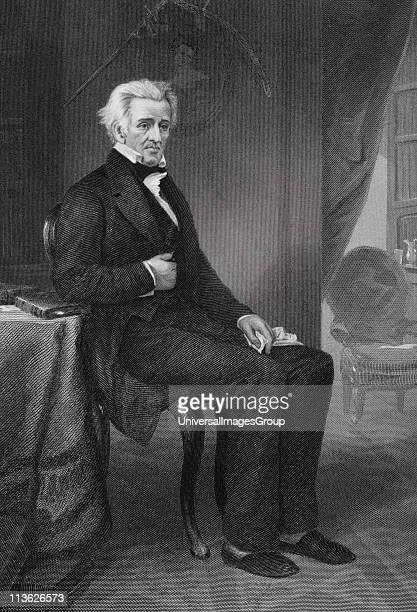 Andrew Jackson 1767 to 1845 7th President of the United States From painting by Alonzo Chappel