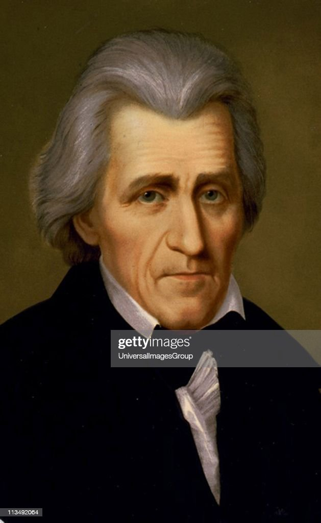 Andrew Jackson (1767-1845) American soldier and Seventh President of the United States 1829-1837. Head-and-shoulders portrait. : News Photo