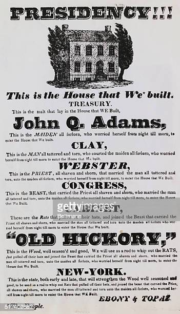Andrew Jackson election poster deriding John Q Adams and his following