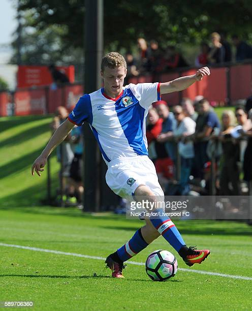 Andrew Jackson of Blackburn Rovers in action during the Liverpool v Blackburn U18 game at the Kirkby Academy on August 15 2016 in Kirkby England