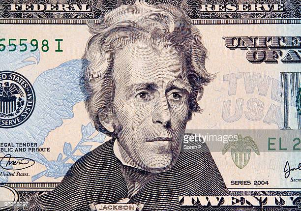 andrew jackson - number 20 stock pictures, royalty-free photos & images