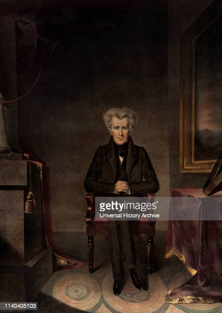 Andrew Jackson, President of the United States, from the Original Painting by W.J. Hubard, Drawn on Stone by A. Newsam, Printed and Published by...