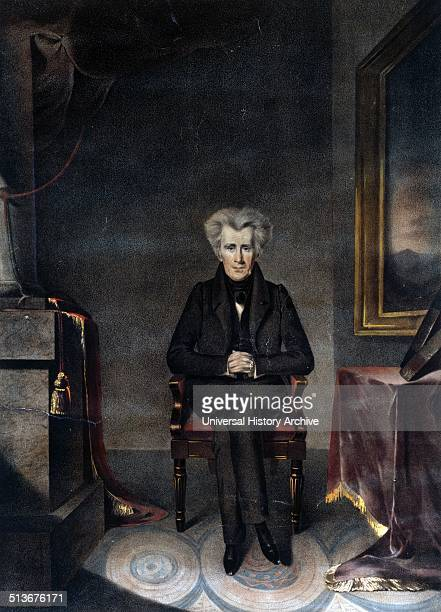 Andrew Jackson President of the United States from the original painting by WJ Hubard