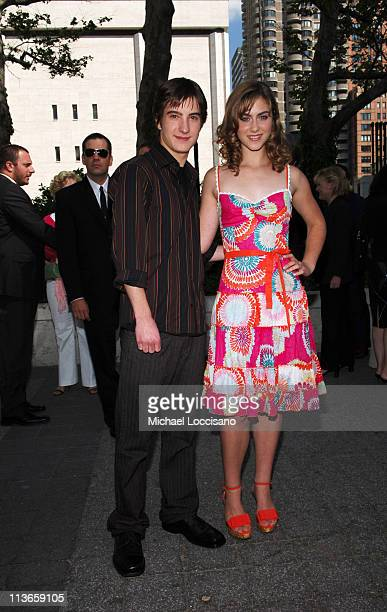 Andrew James Allen and Caitlin Wachs during 2005/2006 ABC UpFront Arrivals at Lincoln Center in New York City New York United States
