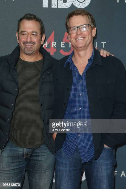 Andrew Jarecki and Greg Kinnear attends the New York premiere of Farenheit 451 at NYU Skirball Center on May 8 2018 in New York New York