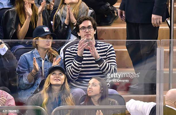 Andrew Jenks attends the Washington Capitals vs New York Rangers playoff game at Madison Square Garden on April 30 2015 in New York City