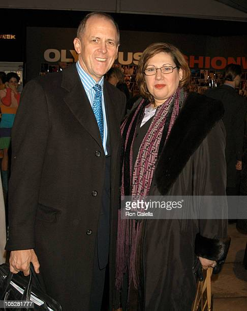 Andrew Jennings and Guest during Olympus Fashion Week Fall 2004 - Seen at Bryant Park - Day 6 at Bryant Park in New York City, New York, United...