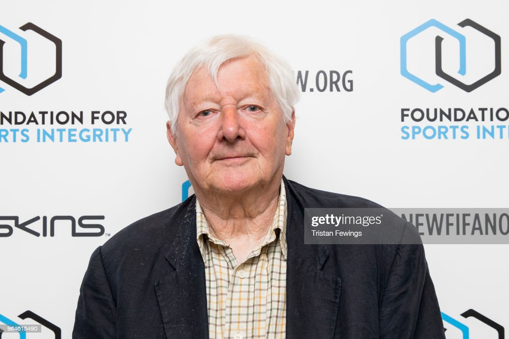 Andrew Jennings attends The Foundation For Sports Integrity (FFSI) inaugural 'Sports, Politics and Integrity Conference' at Four Seasons Hotel on May 31, 2018 in London, England.