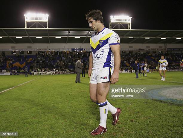 Andrew Johns of Warrington Wolves looks dejected after his team lost to Hull during the Engage Super League Second Elimination playoff match between...