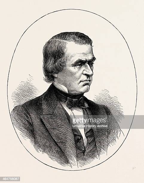 Andrew Johnson He Was The 17th President Of The United States US USA 1870s Engraving