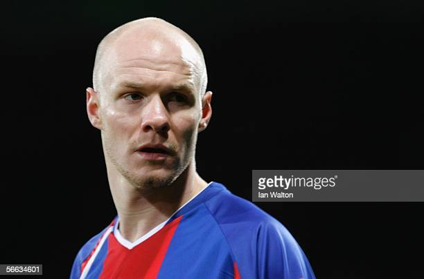 Andrew Johnson looks on during the CocaCola Championship match between Crystal Palace and Reading at Selhurst Park on January 20 2006 in London...