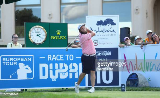 Andrew Johnson of England plays in the pro am ahead of the Andalucia Valderrama Masters at Real Club Valderrama on October 17 2018 in Cadiz Spain