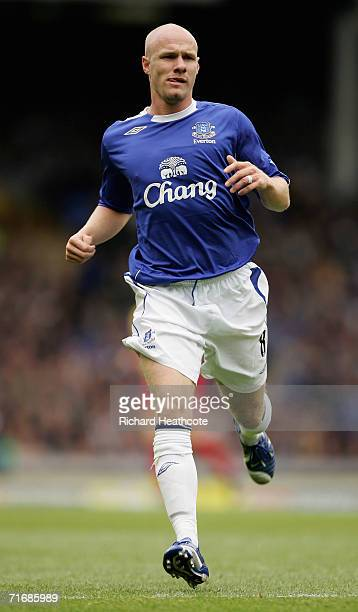 Andrew Johnson of Everton in action during the Barclays Premiership match between Everton and Watford at Goodison Park on August 19 2006 in Liverpool...
