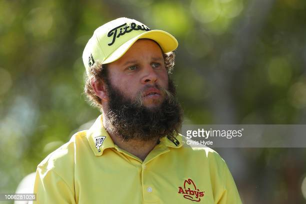 Andrew Johnston looks on during day one of the 2018 Australia PGA Championship at Royal Pines Resort on November 29 2018 in Gold Coast Australia