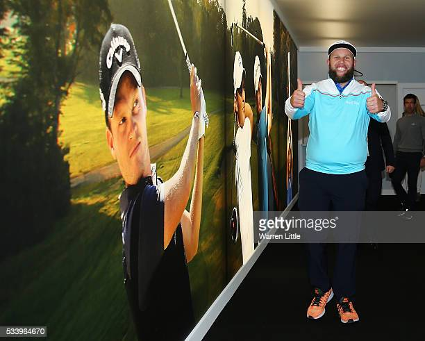 Andrew Johnston of England arrives for the BMW PGA Championship Reception prior to the BMW PGA Championship at Wentworth on May 24 2016 in Virginia...