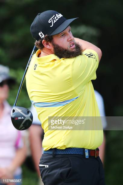 Andrew Johnston of England hits a tee shot during Day one of the ISPS Handa Vic Open at 13th Beach Golf Club on February 07 2019 in Geelong Australia