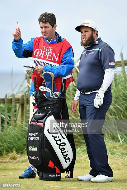 Andrew Johnston of England looks down the 2nd hole during the final round on day four of the 145th Open Championship at Royal Troon on July 17 2016...