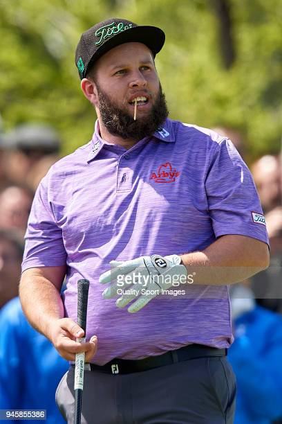 Andrew Johnston of England looks on during day two of Open de Espana at Centro Nacional de Golf on April 13 2018 in Madrid Spain