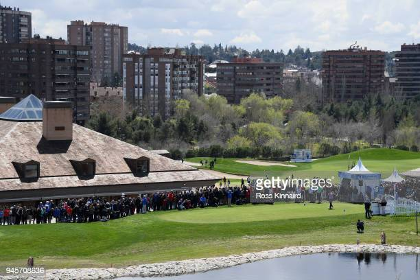 Andrew Johnston of England on the 1st tee during day two of the Open de Espana at Centro Nacional de Golf on April 13 2018 in Madrid Spain