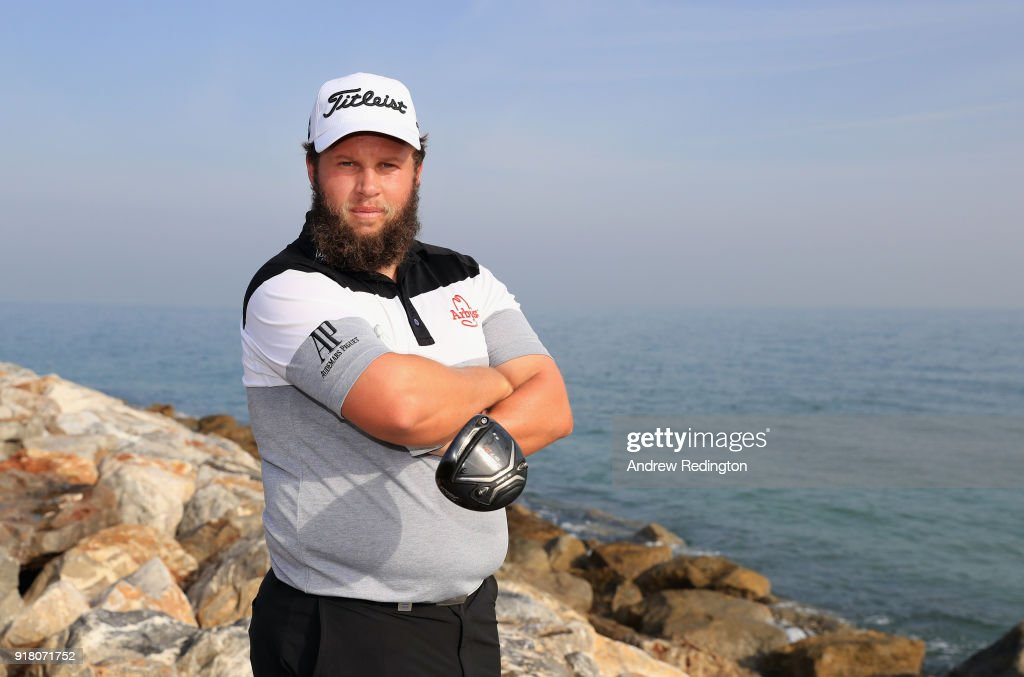 Andrew Johnston of England poses for a portrait during the Pro Am prior to the start of the NBO Oman Open at Al Mouj Golf on February 14, 2018 in Muscat, Oman.